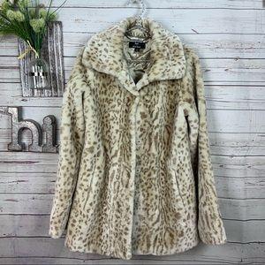 Dennis by Dennis Brasso Snow leopard print coat XS